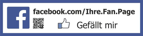 Facebook Fanpage Aufkleber