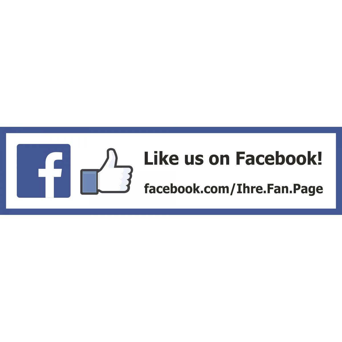 Facebook Aufkleber & Schild - Gefällt mir Sticker - mit QR ...