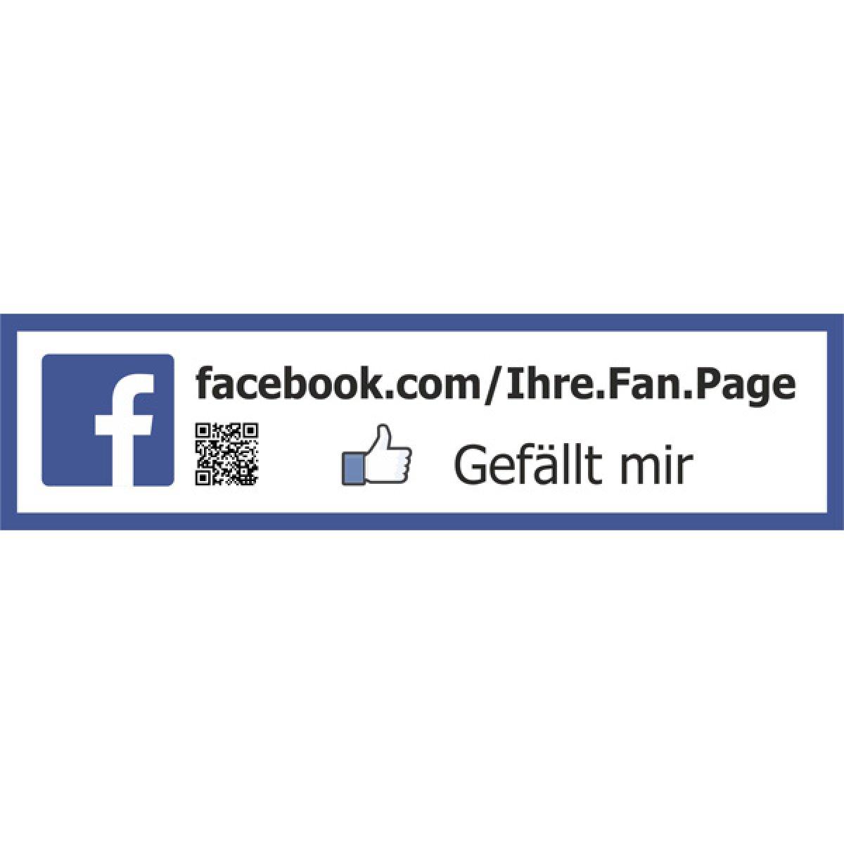 facebook aufkleber schild gef llt mir sticker mit qr code jetzt verf gbar. Black Bedroom Furniture Sets. Home Design Ideas