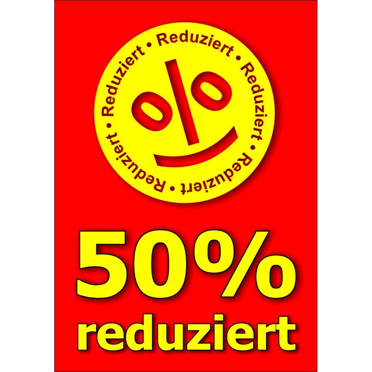 Plakat 50 prozent reduziert for Koch 50 prozent