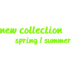 Folienbeschriftung new collection - spring / summer