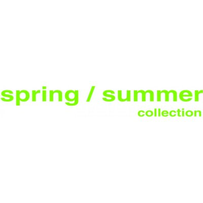 Folienbeschriftung spring / summer collection