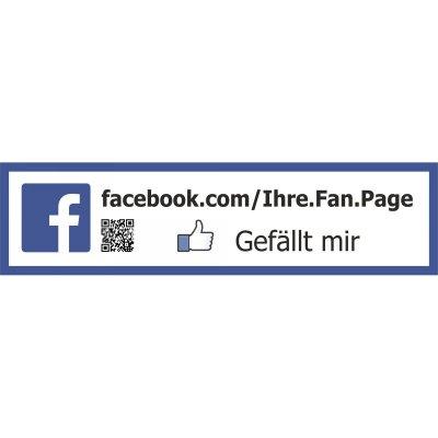 Facebook Aufkleber Werbeschild Gefällt Mir Mit Qr Code 3 Varianten