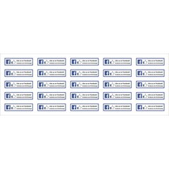 Facebook Mini Aufkleber Like us on Facebook 80 x 20 mm -...